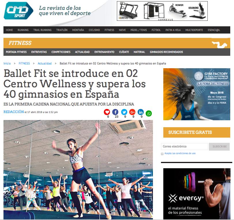 CDM Sport O2 Centro Wellness BalletFit