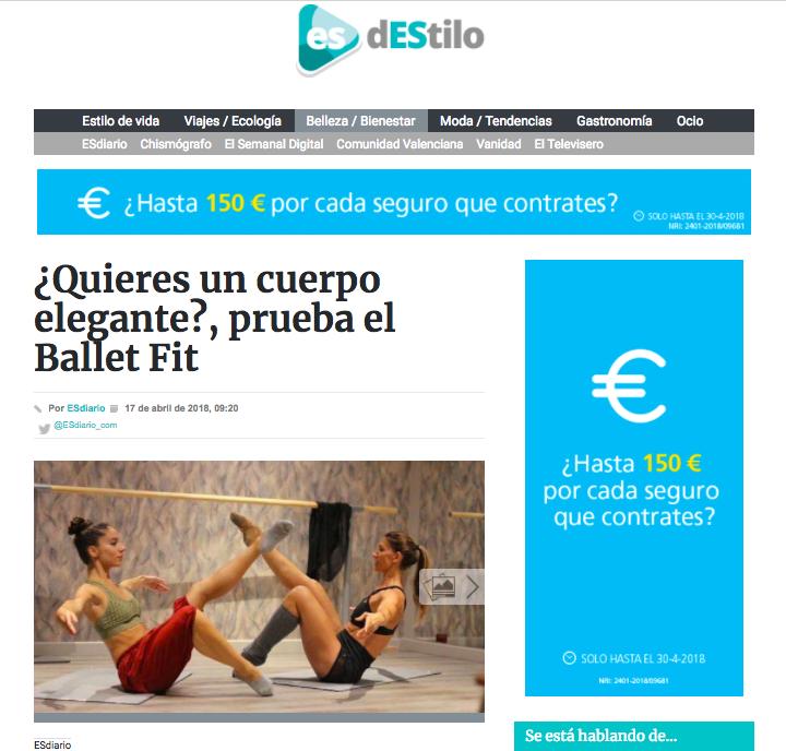 Esdiario O2 Centro Wellness Balletfit