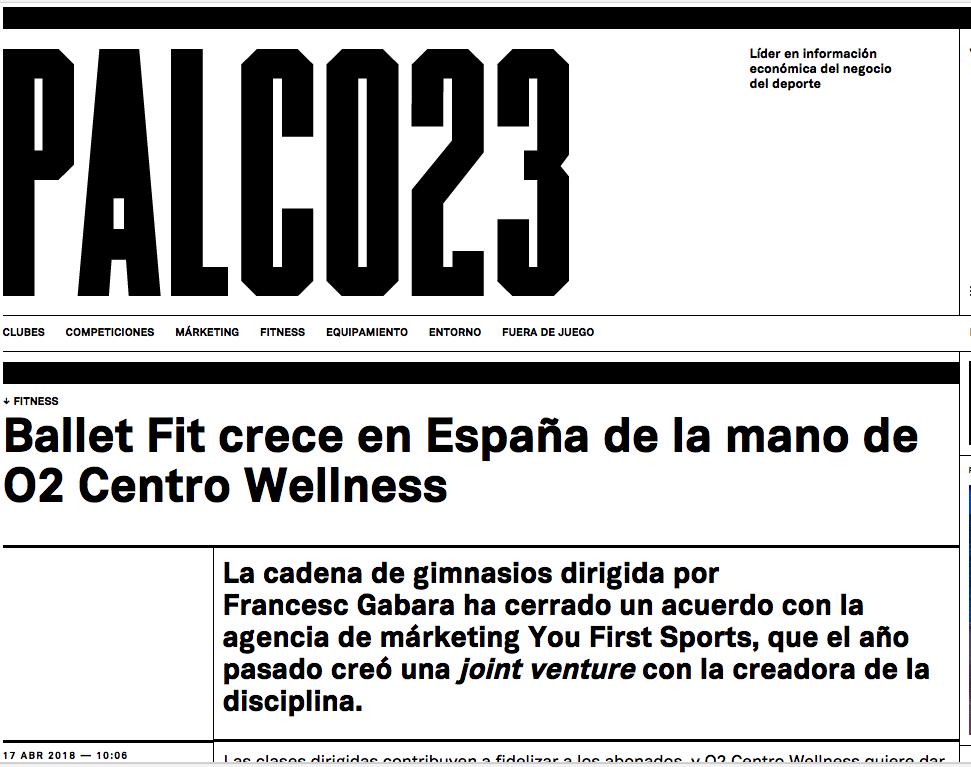 Palco23 O2 Centro Wellness Balletfit