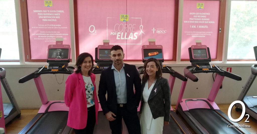 Evento Solán de Cabras y O2CW en la lucha contra el cáncer de mama.